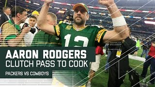 Aaron Rodgers' Clutch Pass to Cook to Set Up Game-Winning FG! | NFL Divisional Highlights