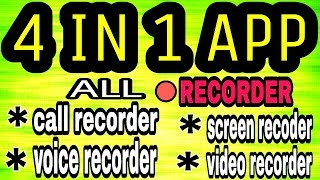 SCREEN RECODING SOFTWARE 2017   VOICE RCODER   AUTO CALL RECODER APP