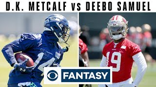 Rookie WRs to WATCH: Metcalf vs Samuel | Fantasy Football Today