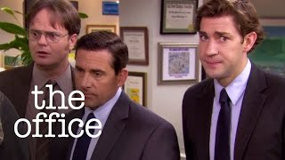 Michael Scott Falls into a Koi Pond - The Office US