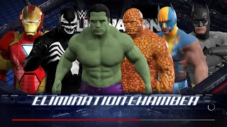 WWE 2K17 Wtf Hulk vs The Thing vs Venom vs Ironman vs Wolverine vs Batman