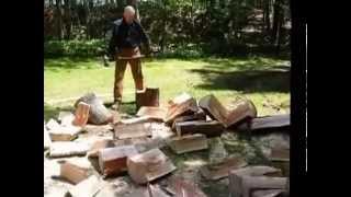 Amazing 66 Yr Old Wood-splitter
