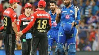 IPL 9 MI vs RCB : Rohit Shrama 62 & Pollard (40*) Power MI To 6 Wicket Win 21 April 2016