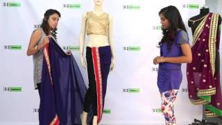How to Drape Sonam Kapoor Half Dhoti Style Saree