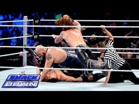Mark Henry & Big Show vs. 3MB - 2-on-3 Handicap Match: SmackDown, Aug. 23, 2013