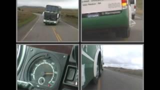 Bus Marcopolo Paradiso 1800 DD prueba de seguridad en carretera