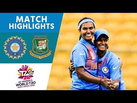 ICC Women's #WT20 India vs Bangladesh  Match Highlights