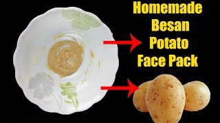 Homemade Besan And Potato Face Pack