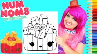 Coloring Num Noms Frenchie Fries Coloring Page Prismacolor Pencils | KiMMi THE CLOWN