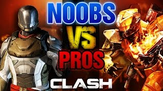 NOOBS VS PROS 9: The CLASH Challenge!!