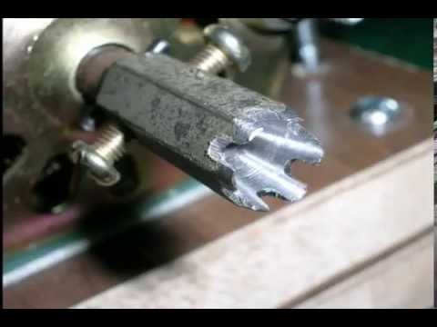 Homemade Mini Wood Lathe 自� 迷� �木工車床