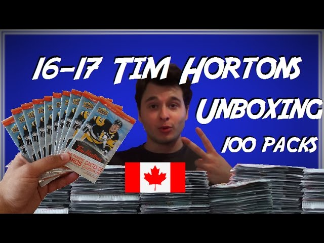 2016-17 Tim Hortons Hockey Cards Unboxing (100 PACKS, ENTIRE BOX!)
