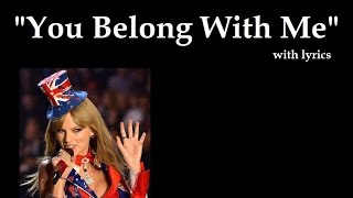 Taylor Swift lagu You Belong With Me dengan Lirik kualitas HD