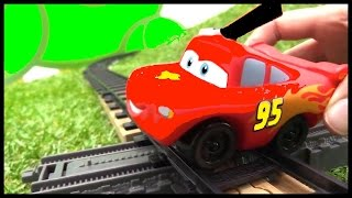 TRAIN SCHOOL! - Lightning McQueen - Toy Cars & Toy Trains Videos for kids. Videos for kids cartoons