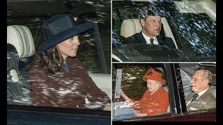 Prince William and Kate Middleton join royal family for Scotland church service