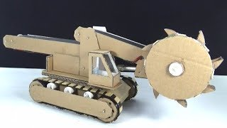 How to make a Bucket Wheel Excavator from Cardboard