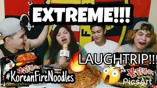 SPICY EXTREME ! KOREAN FIRE NOODLE CHALLENGE ( BURN )