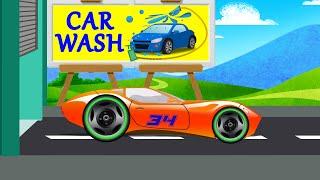Sport Car | Car Wash | Car Wash Video For Kids