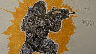 Speed Drawing : Halo 5_Guardians - #2 - Jameson Locke -