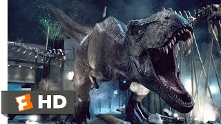 Jurassic World (9/10) Movie CLIP - T-Rex vs. Indominus (2015) HD