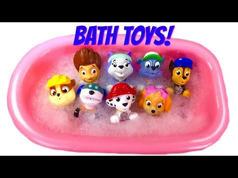 Best Paw Patrol Bath Toy Video for Children Paw Patrol Wash a Dirty Dog