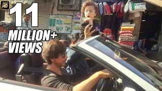 Shahrukh Khan's CUTE Son AbRam Enjoying Open Car Ride On Mumbai Roads