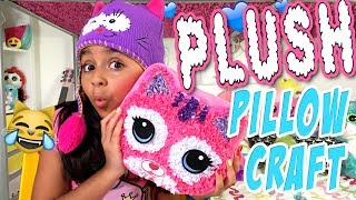 Plush Pillow - Crafts For Kids : The Evangeline Show // GEM Sisters