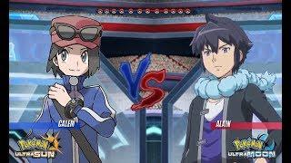 Pokemon Battle USUM: Calem Vs Alain (Pokémon Kalos League)