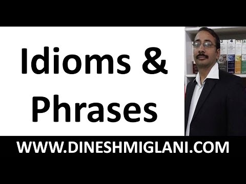 watch 200 Important Idioms and Phrases by Dinesh Miglani Sir