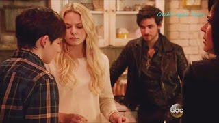 Once Upon A Time 5x16 Hook Emma & Regina with Teenager Henry