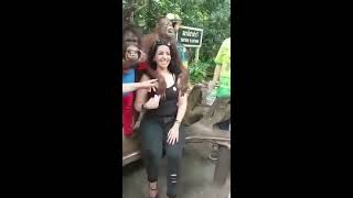 Women and monkey sex prank