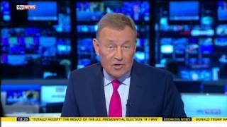 Jeremy Thompson presents his final Sky News studio show
