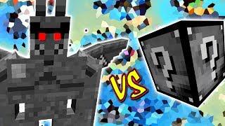 EVIL GARGOYLE VS. LUCKY BLOCK TECHNO (MINECRAFT LUCKY BLOCK CHALLENGE GARGULA)