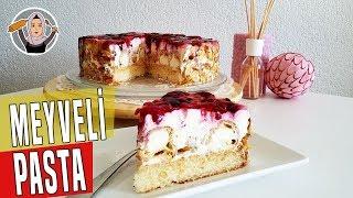Kolay Pasta Tarifi Meyveli ve profiterollü(Windbeutel Torte)-Hatice Mazi
