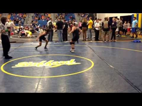 Lexi Nalls wrestling Round 3 Culpeper middle school. 9th grade 106 lbs