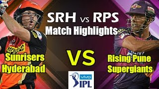 IPL T20: SRH vs RPS Match Highlights | 26th April 2016 | Vivo IPL | Cricket Fan Club