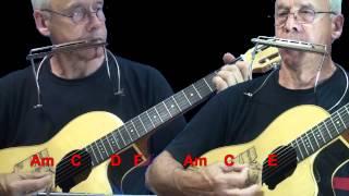 Nº 015 The House of the Rising Sun (Animals)tablat.armonica G + guitar Mundharmonika
