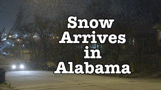Snow arrives in Alabama