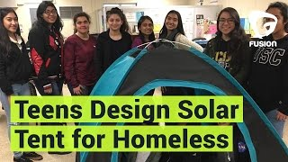 Latina Teens Design Tent for Homeless