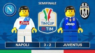 Napoli Juventus 3-2 • Tim Cup 2017 (05/04/2017) goal highlights Lego Calcio Coppa Italia 2017
