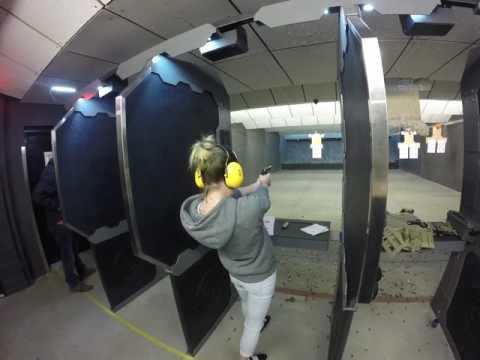 Jenn loading and Shooting .45 Cal