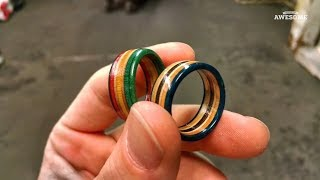 Recycling Skateboards into Tools, Jewelry & Bottles!