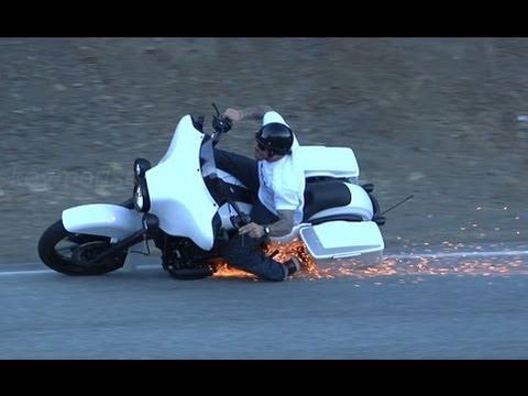Harley Davidson Lowside Motorcycle Crash