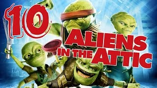 Aliens in the Attic Walkthrough Part 10 (PS2, Wii, PC) Movie Game - Level 10 -