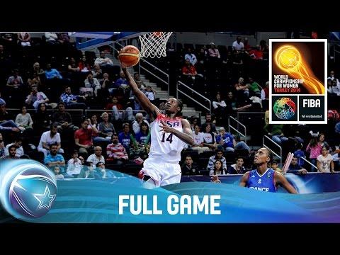 watch USA v France - Full Game - Quarter Final - 2014 FIBA World Championship for Women