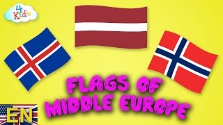 Flags and Countries of Europe (Central Europe) learning for Children and Toddlers (english)