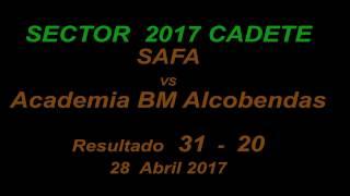 2017 SECTOR.SAFA vs Alcobendas 31-20  28-4-2017 MP4 HD720