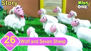 Wolf and Seven Little Sheep Story | Panchatantra Stories for Children | Stop Motion Animation