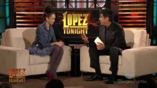 Lopez Tonight - Jessica Alba DNA Test - [December 1, 2009]