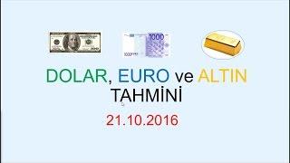 Dolar, Euro ve Altın Ne Olacak 21.10.2016